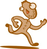 running gingerbread man