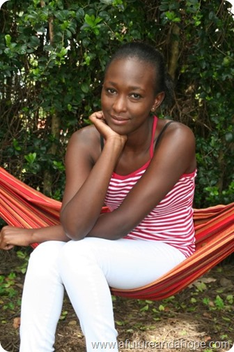 Grace Mugure on hammock
