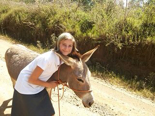 Makena and Donkey